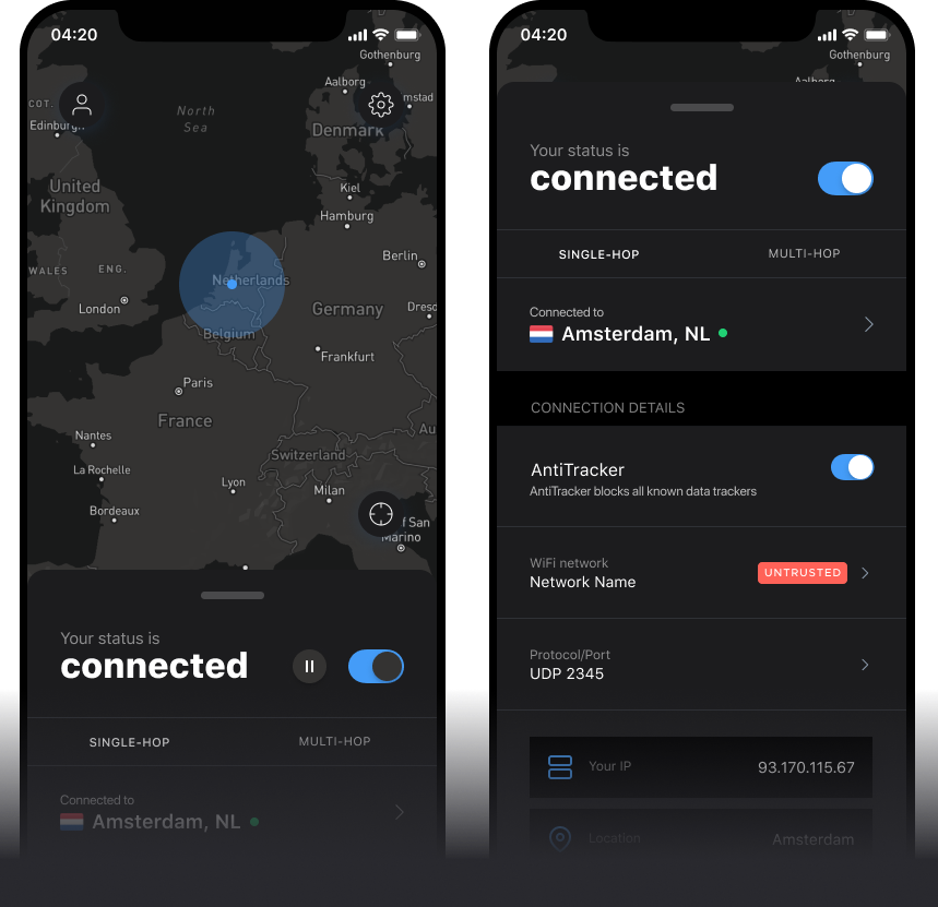 IVPN for iOS - Open-source VPN app for your iPhone and iPad