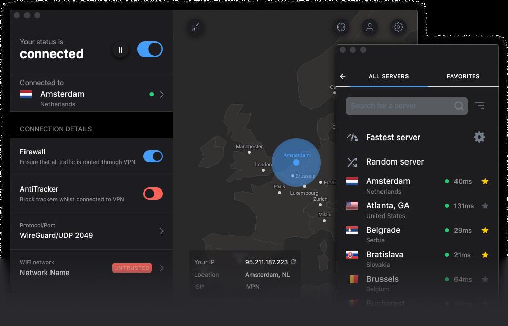 IVPN for macOS - Open-source VPN app for your Mac